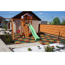 Резиновая плитка для детских площадок толщина 20 мм 50х50 см