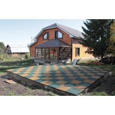 Резиновая плитка для детских площадок толщина 40 мм 50х50 см