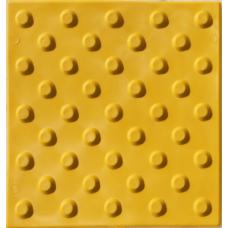 Плитка тактильная ПВХ конус шахматный, 300*300 мм, желтая