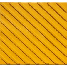 Тактильная плитка ПРОДОЛЬНЫЙ РИФ 500*500 (ПВХ) мм Ral 1016