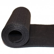 Рулонные резиновые покрытия Sport Terra 1000 6 мм черный