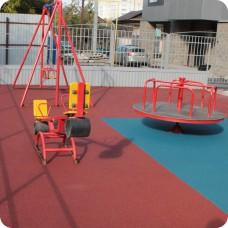 Бесшовные покрытия из EPDM крошки для детских площадок толщиной 25 мм