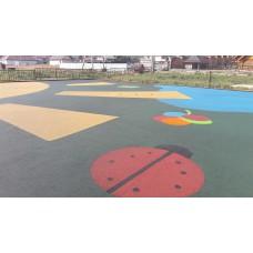 Мягкое резиновое покрытие толщиной 40 мм для детской площадки из EPDM крошки