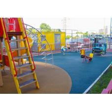 Бесшовные покрытия из резиновой крошки для воркаутов и уличных тренажерных площадок