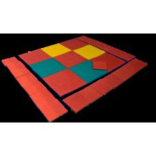 Резиновые покрытия для кроссфит залов и воркаутов толщина 30 мм 100х100 см