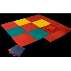 Плитка из резиновой крошки для тренажёрных и тяжелоатлетических залов толщиной 20 мм и размерами 1000х1000 мм