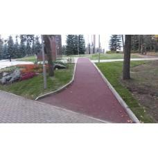 Бесшовное покрытие из резиновой крошки на садовые и парковые дорожки