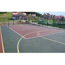 Универсальная спортивная площадка с 3-d ограждением