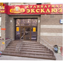 Входные группы, уличные лестницы, пандусы для маломобильных групп населения..