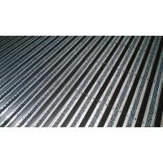 Грязезащитная алюминиевая решетка со вставками комбинация «резина» высота 20 мм