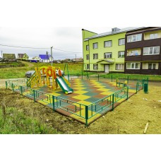 Резиновая плитка для детских площадок толщина 30 мм 100х100 см