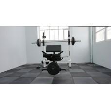 Резиновая плитка для тренажёрных тяжелоатлетических залов 18 мм
